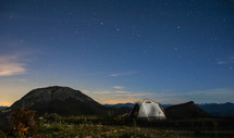 tent under star light