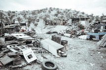 Homes of poor families in Jaurez Mexico