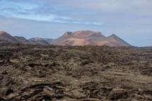 volcanic mountain, mountain, peaks, rock, landscape
