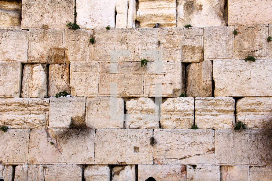A section of The Western Wall in Jerusalem.