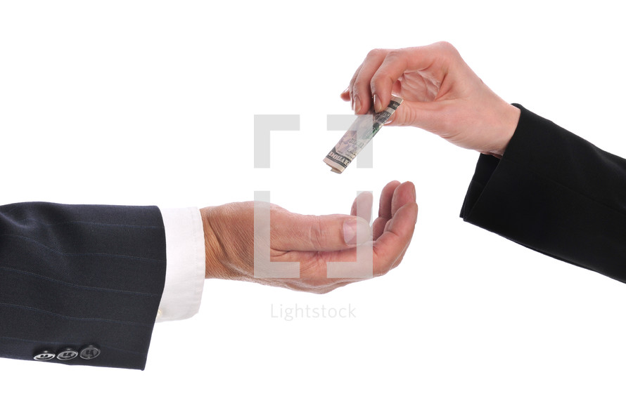 business exchanging money