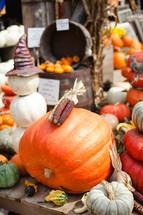 fall pumpkins and merchandise
