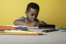 a boy child coloring