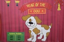 Year of the dog bulletin board