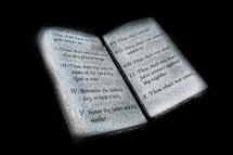 Ten Commandments tablets.