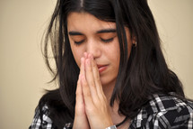 Girl praying.
