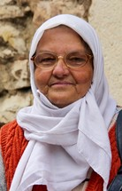 Bosnian Muslim elderly woman.