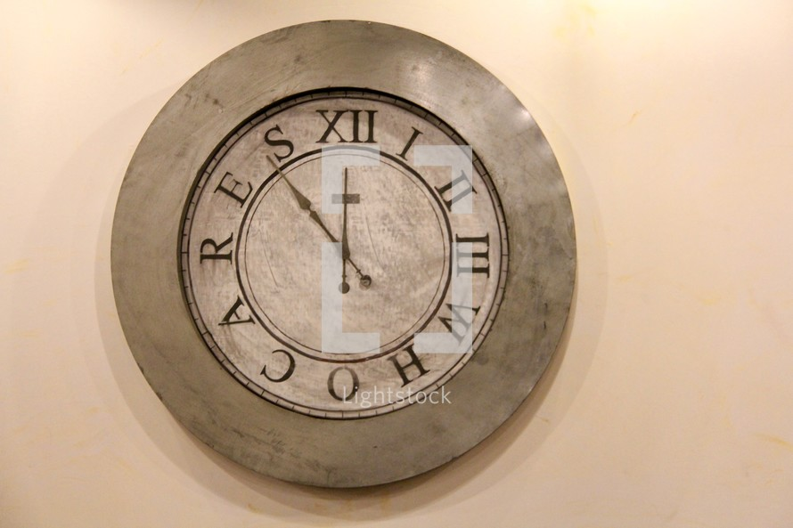 Wall clock with who cares