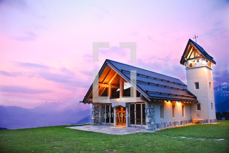 A church set apart in the hills