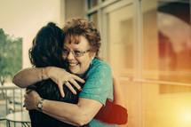 a welcoming hug