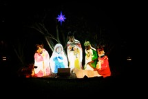 nativity with north star