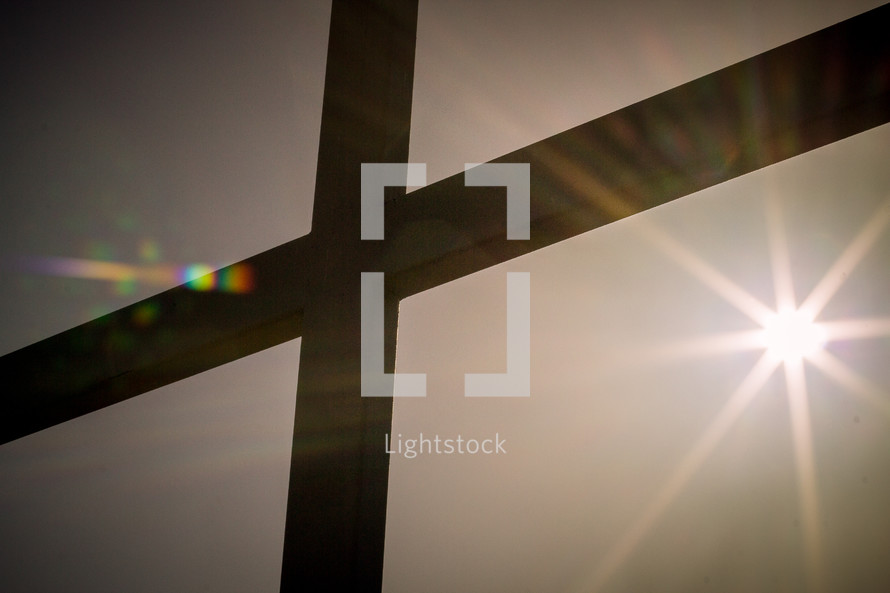 sunburst on a cross