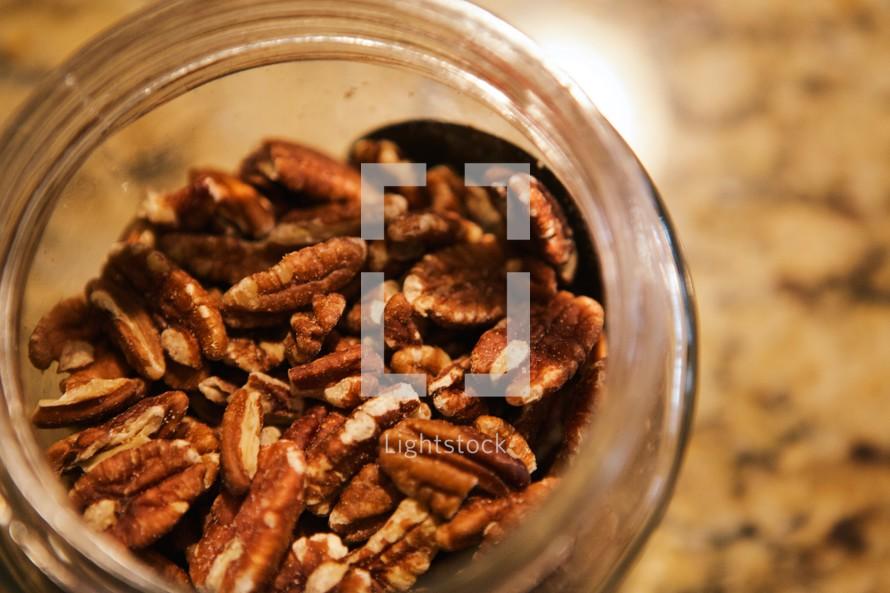 jar of pecans