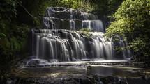 Purakaunui Falls.