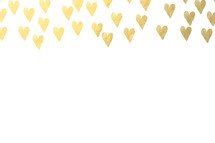 gold heart border