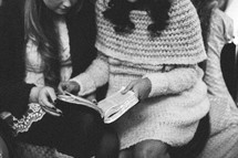 women reading a Bible