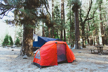 tents in a camp grounds