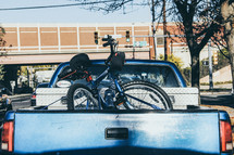 bicycle in a truck bed