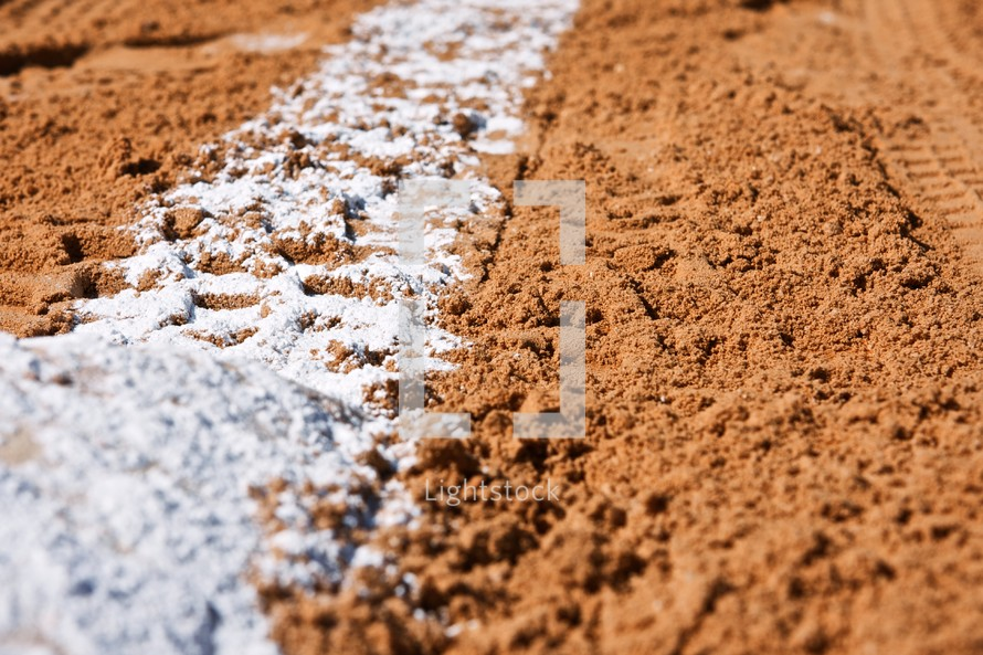 lines on a baseball field