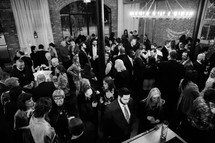 gathering of people at a wedding reception