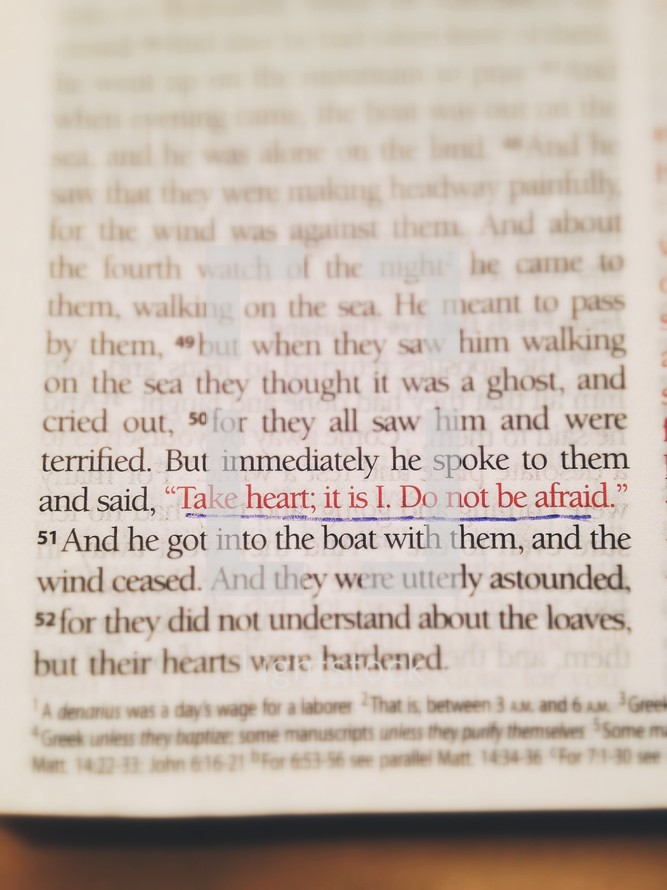 Do not be afraid scripture