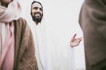 Jesus talking to disciples.