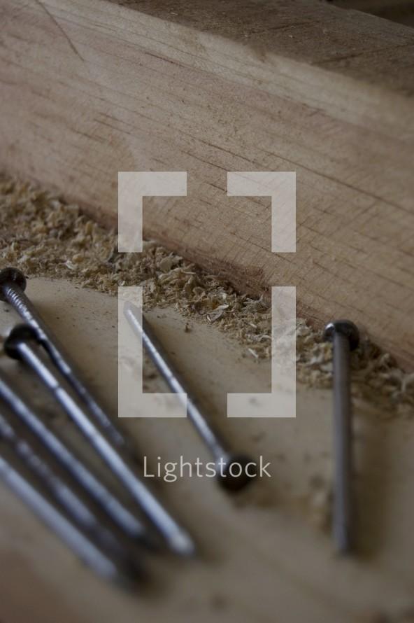 Wood and nails