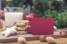 Christmas Cookies with Milk and Blank