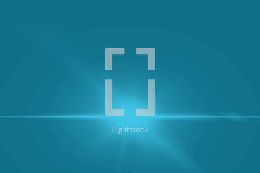 light burst on blue