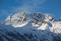 snow covered mountain peak