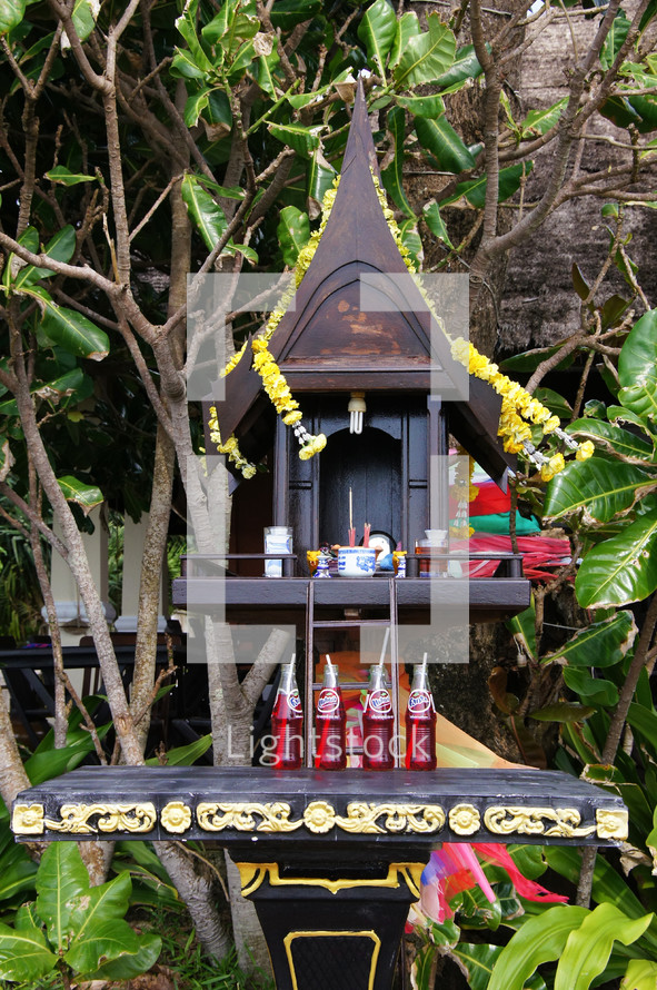 Offerings to Thai gods