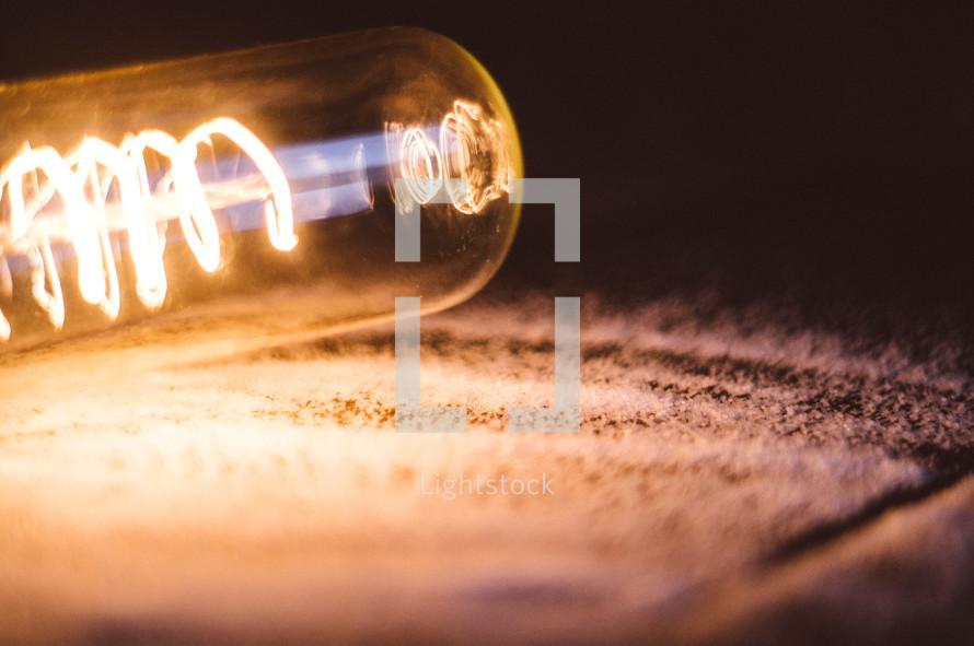 filaments in a lightbulb
