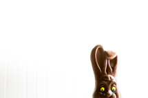disappearing chocolate Easter bunny