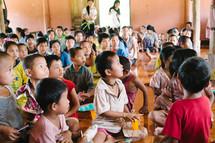 children in worship