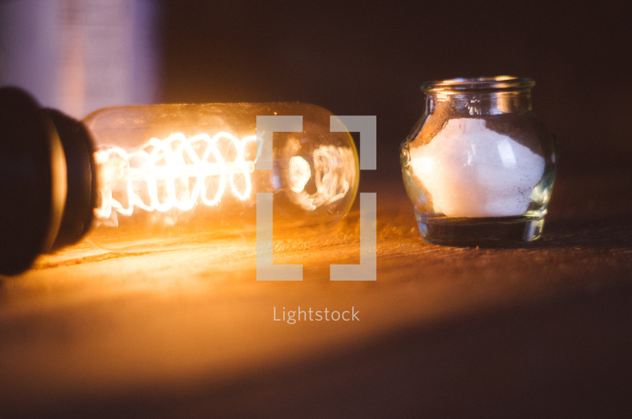 lamp and salt