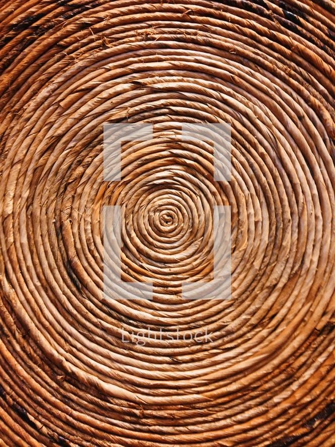 swirls in basket weave