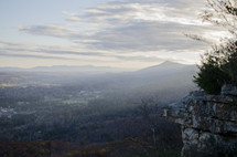 fog over a mountain peak