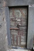 latched door