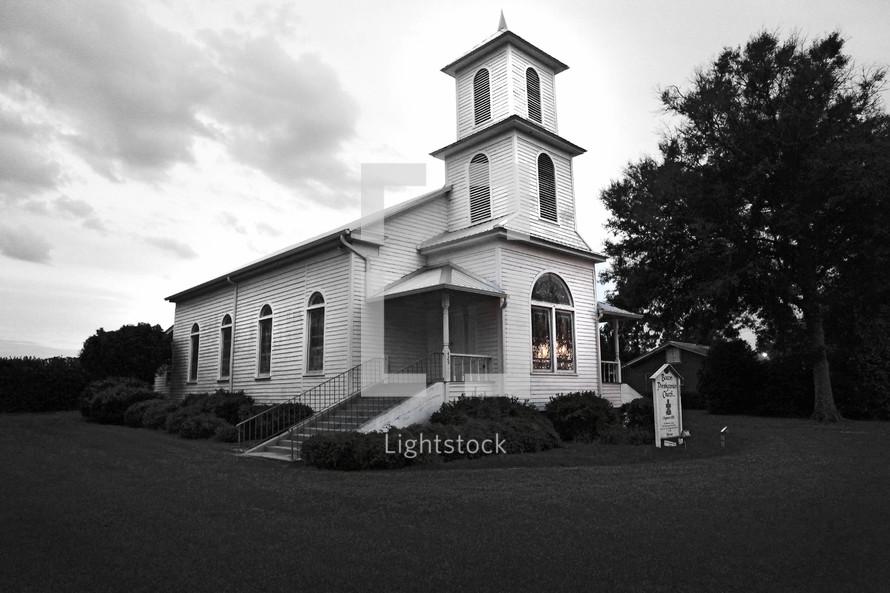 White church house