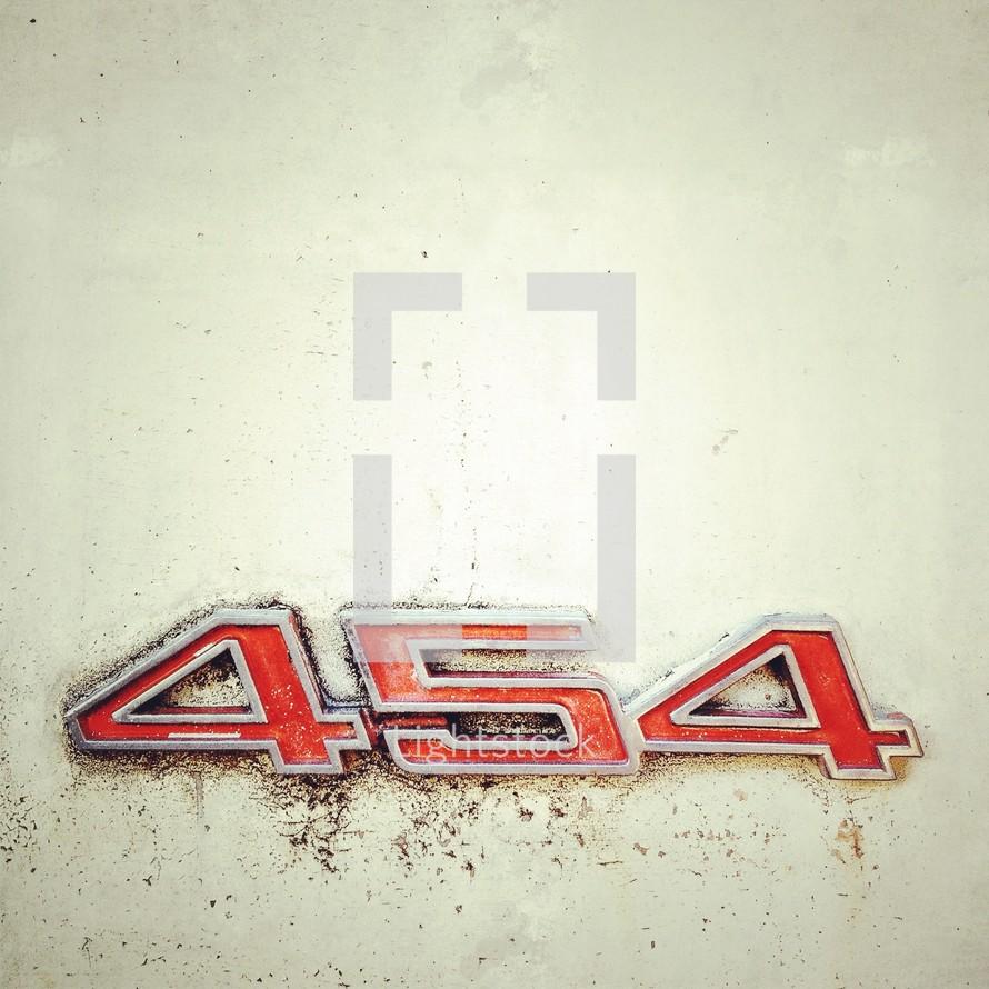 454 Grunge Name Plate