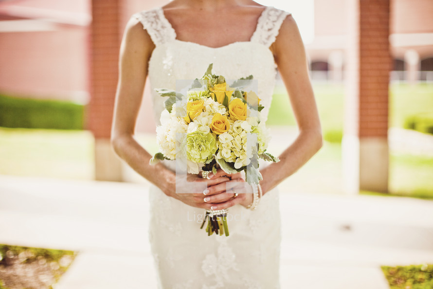 woman holding bouquet of flower - bridesmaid