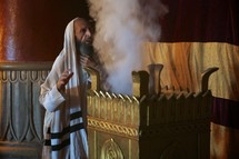 Zechariah at the altar of Incense