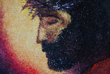 mosaic of the face of Christ