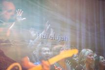 Hallelujah, people in worship