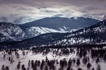a winter mountain range