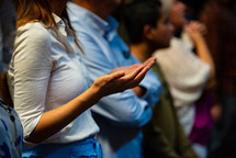 parishioners during a worship service