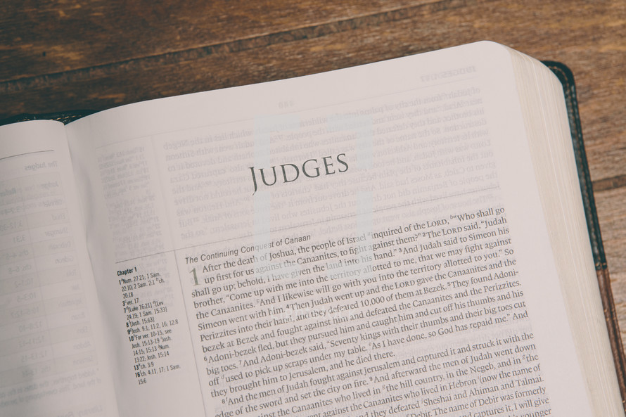Bible opened to Judges