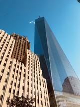 reflection on windows of a skyscraper