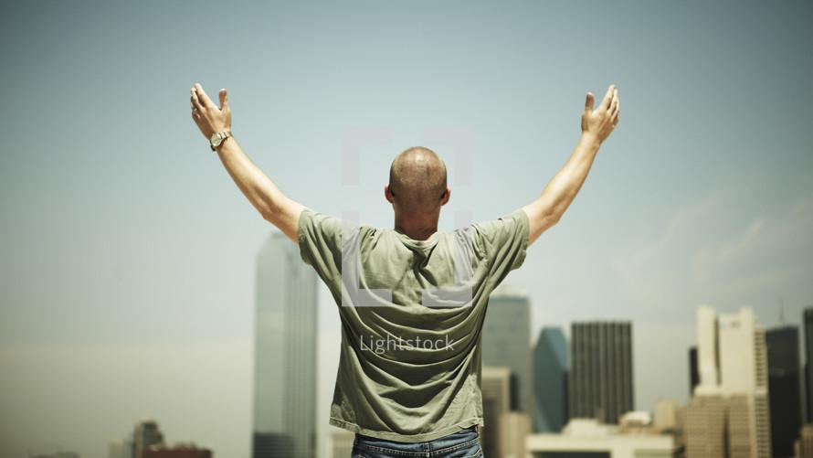 Man interceding  for his city