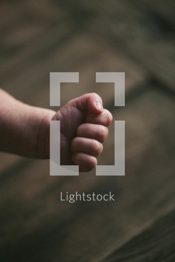 fist of a newborn infant